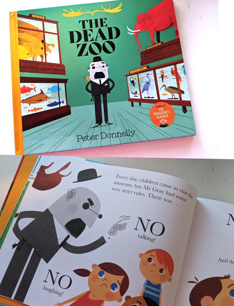 #bookelves2020 I love this picture book The Dead Zoo by @donnellypa It tells the unlikely friendship between  museum-owner Mr Gray and a mischievous mouse in Dublin's 'Dead Zoo'. The illustrations are filled with fun. Suitable for 2 years plus #Irishbooks https://t.co/cQUODT3caK