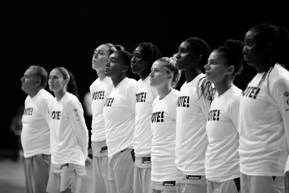 The #WNBA is forever thankful for the strong, courageous women that make this league so special 🖤🧡