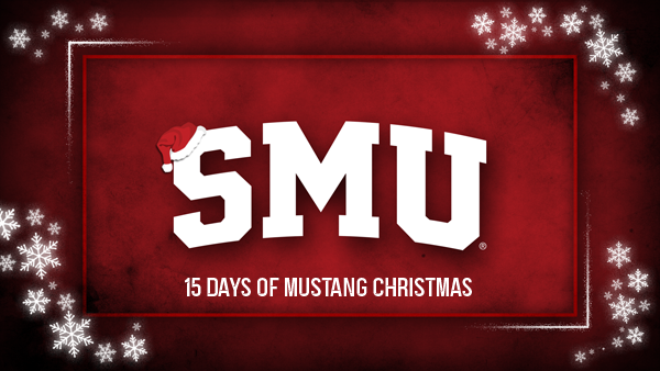 "Starting Monday, Nov. 30th, join us as we celebrate our 484 student-athletes with ""15 Days of Mustang Christmas!""    Learn about our sport excellence funds & consider donating to your favorite in the spirit of #SeasonOfGiving.  🎅🎄 Kick off the holiday season with SMU!  #PonyUp"