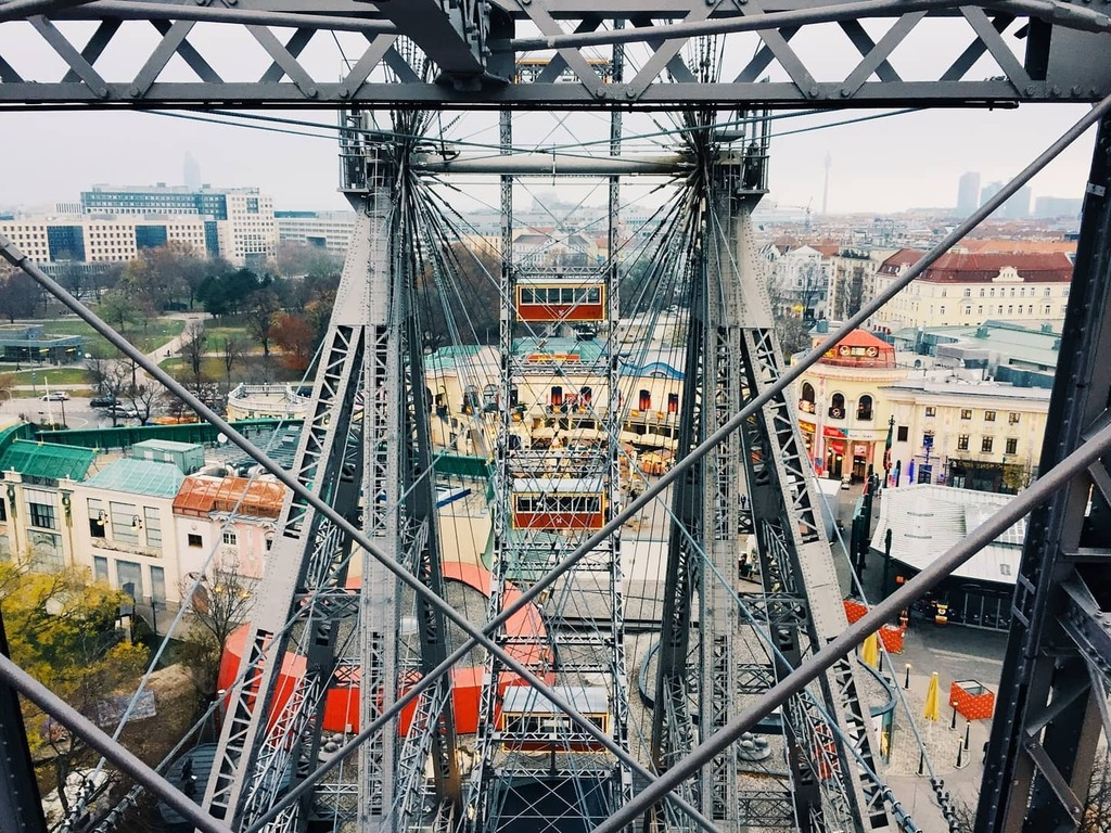 One year ago, at the top of the giant wheel in Prater . . . #igers #igaddict #instagramers #igersportugal #p3 #p3_top #photooftheday #vsco #colors_of_day #moodygrams #instadaily #instagood #travelgram #traveller #picoftheday #life #all_shots #capture #mo…