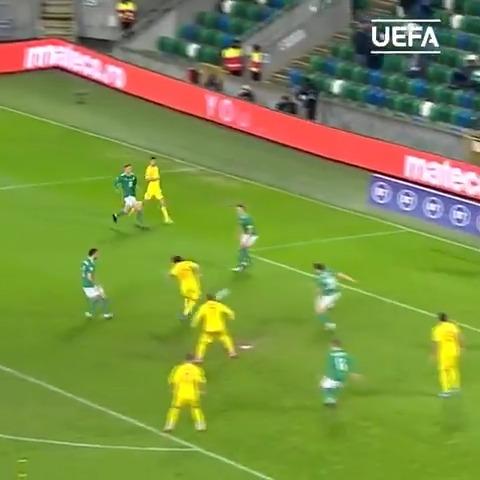 🇷🇴 1-touch move finished by Eric Bicfalvi 😍  #NationsLeague | @hai_romania