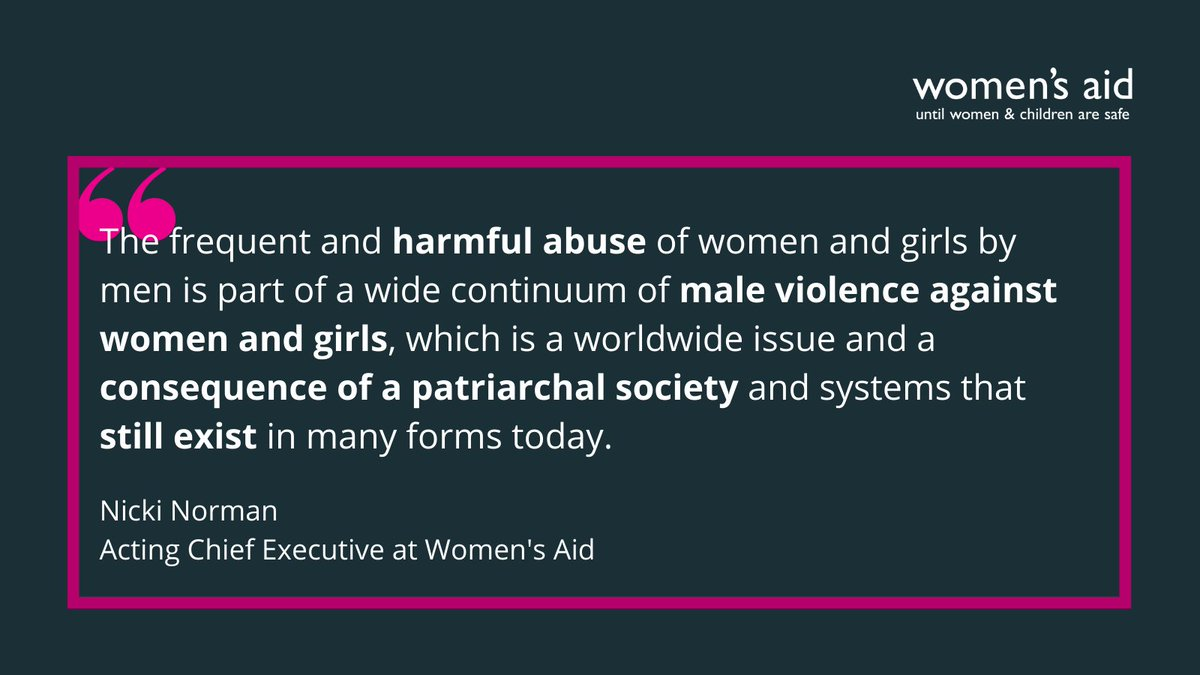 On International Day for the Elimination of Violence Against Women, and throughout the year, we will continue to highlight the experiences and needs of women living with #domesticabuse and will call out the everyday sexism that enables violence against women and girls. (1/2) ⬇️