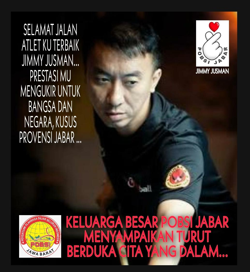 Selamat jalan atlet terbaik POBSI Jabar, Jimmy Jusman. Engkau telah mengukir prestasi bagi bangsa dan negara, khususnya bagi Provinsi Jawa Barat. 🥀🙏😢 #RIP  #PobsiJabar https://t.co/hfalqm98IB