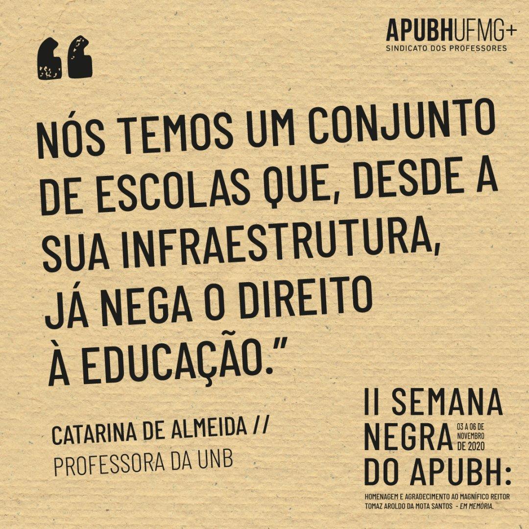 Confira a fala completa em Catarina de Almeida, professora da UnB, em:   #diadaconsciencianegra #novembronegro #novembronegroufmg #20denovembro