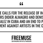 Image for the Tweet beginning: .#Freemuse calls on civil society