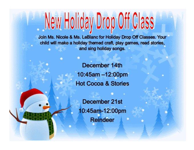 Franklin Recreation: Reindeer Holiday Drop Off Class - Dec 21