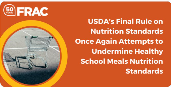 Waiting with bated breath for an #AgSec pick from President @JoeBiden; one who understands #Hunger, ensures a #HungerFreeFuture in #K12; stops #USDA from #HHFKA rollbacks in #SchoolLunch.  More:   by @fractweets