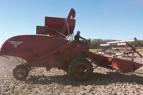 Randy Skarda of Hazen has been saving & restoring old farm equipment for 30 years. To hear Randy & his sons discuss his hobby & give a demonstration of a 1948 McCormick-Deering 125 Ricefield Special combine that took years to get field ready visit https://t.co/qCNAL9wgMh. https://t.co/9ni1drkagy