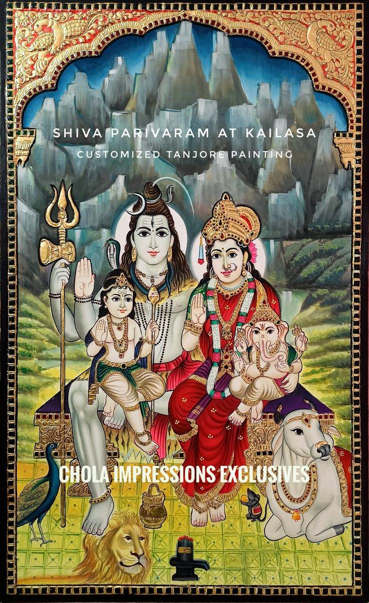 Exclusive Shiva Parivar Tanjore painting made for a customer at a very short notice. #shiva #parivar #ganesha #parvati #shakti #murugan #tanjore #art #painting #india #culture #hinduism #homedecor https://t.co/OeRZgIde9B