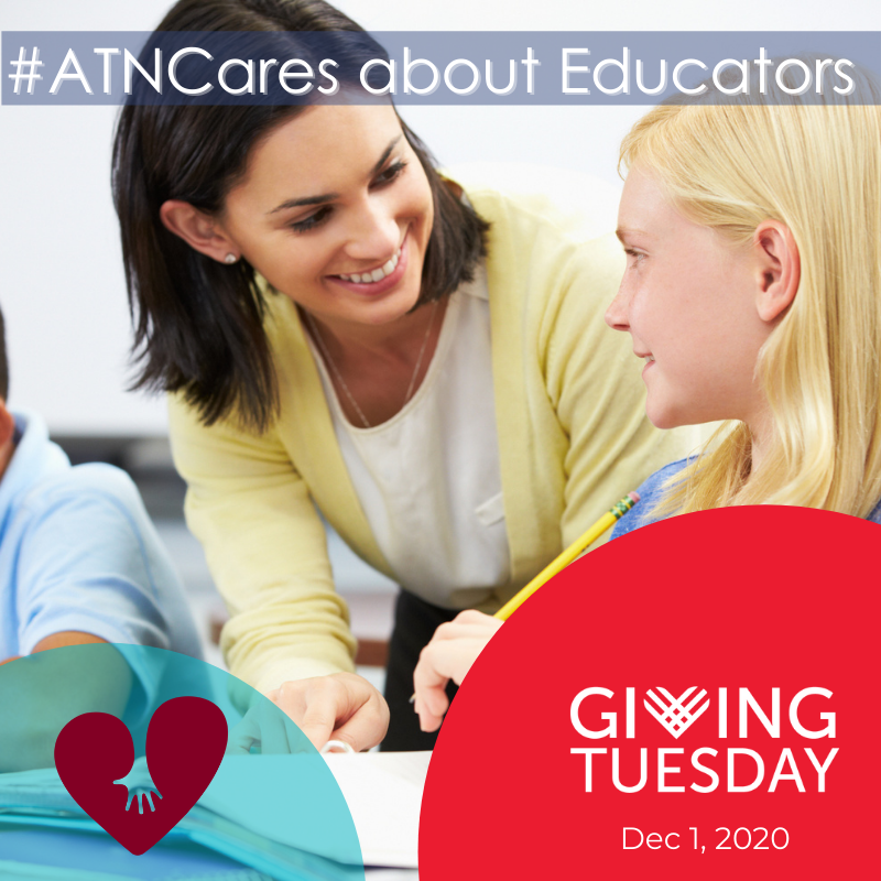 #ATNCares about #Educators - Increase Trauma-Informed School Strategies through ATN's TSS Program this #GivingTuesday. Donate at:  #GivingTuesday2020 #Trauma #TraumaInformed #TraumaInformedSchools #Teachers #Schools  #SeasonOfGiving #ChildhoodTrauma