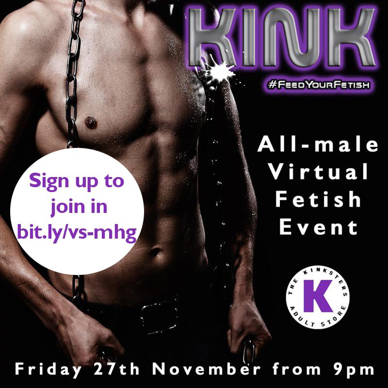 Join an exclusive virtual #maleonly kink event with men from Europe, UK, Canada and US.  Register with code https://t.co/P3KLD6K5zo One month membership & ticket $14.99 #virtualswingin #virtualsexparty #bisexualmen #bisexualparty #swingersparties #virtualsex #feedyourfetish https://t.co/1mPrER0PtO