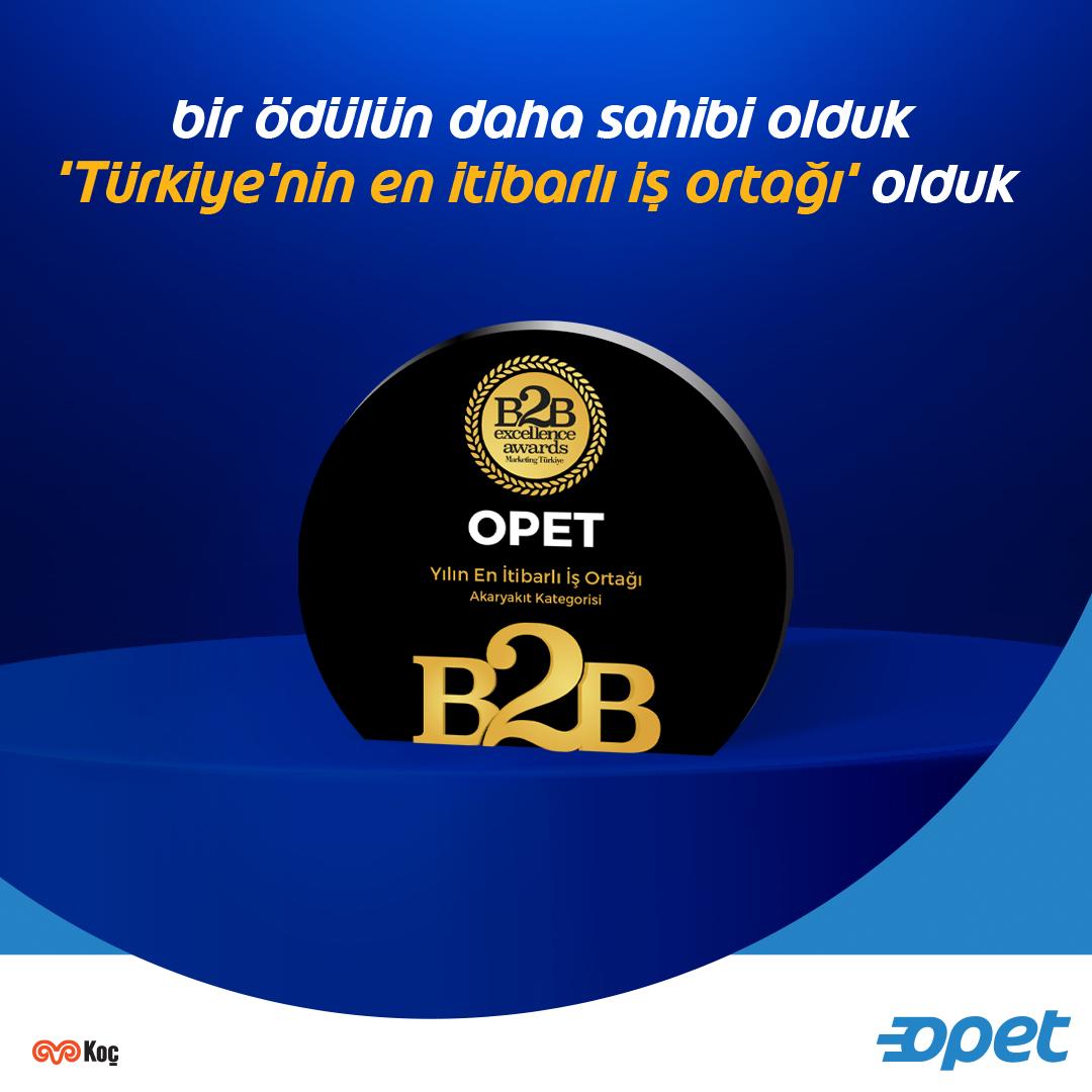 Marketing Türkiye ve Kuantum Araştırma birlikteliğinde gerçekleştirilen araştırma sonucunda B2B Excellence Awards Akaryakıt kategorisinde 'Türkiye'nin En İtibarlı İş Ortağı' ödülünü kazandık.