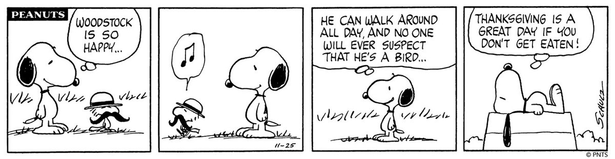 🦃 This Peanuts strip was first published on November 25, 1976.⁠ ⁠