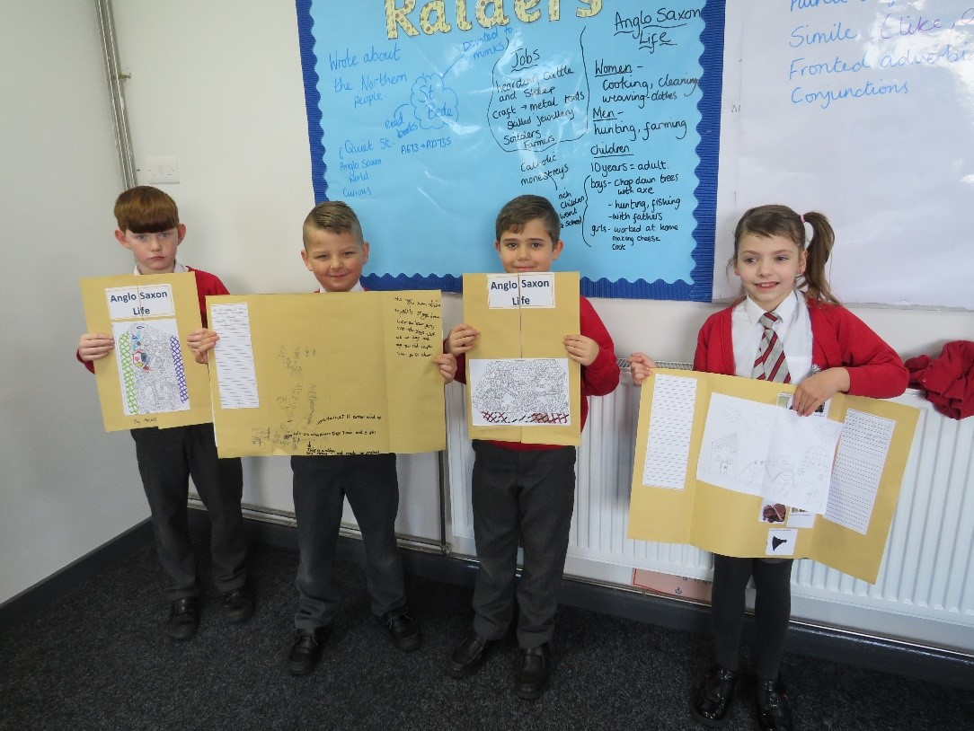 In Juniper Class this week, we have enjoyed making our Anglo-Saxon projects. We love this picture of our pupils showing off their hard work 👏☺️ #anglosaxon