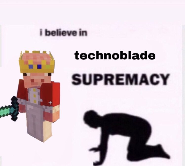 anyway while y'all are here, subscribe to technoblade #technosupport