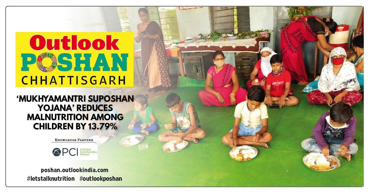 Suposhan works: The 'Mukhyamantri Suposhan Yojana' a target-based interventionprogramme tocombat #malnutrition in state on #GandhiJayanti, October 2, 2019 has yielded positive results.  @bhupeshbaghel @ChhattisgarhCMO @PMenonIFPRI @UNICEFIndia , @jobzachariah@BMGFIndia