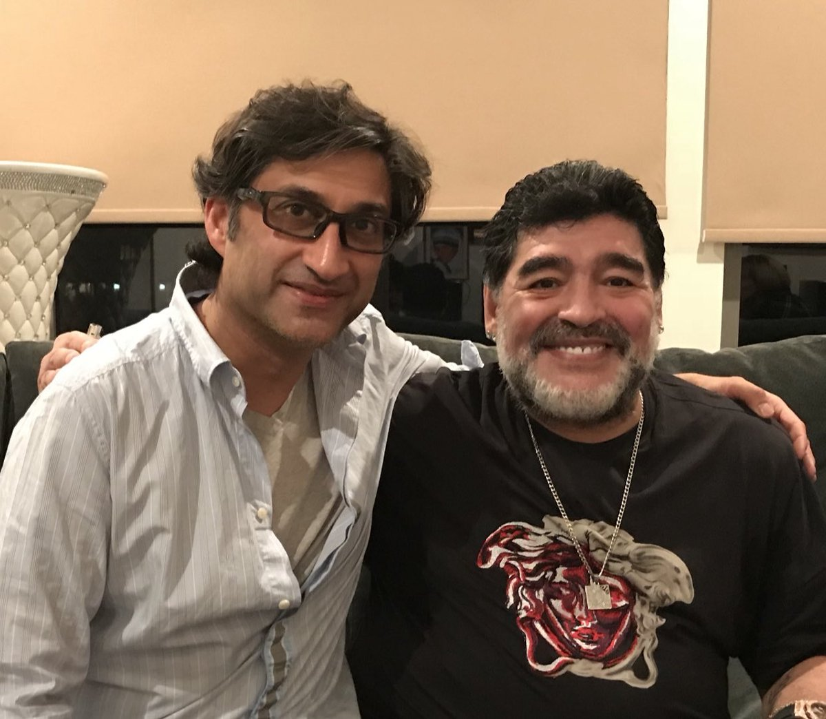 Cant quite believe DM has gone. Hard to process. He always seemed indestructible. I had 10 hours with the man!! I touched his left foot. We did our best to show the world the man, the myth, the fighter he was. The greatest #legend #DiegoMaradona @MaradonaMovie #Diego #maradona