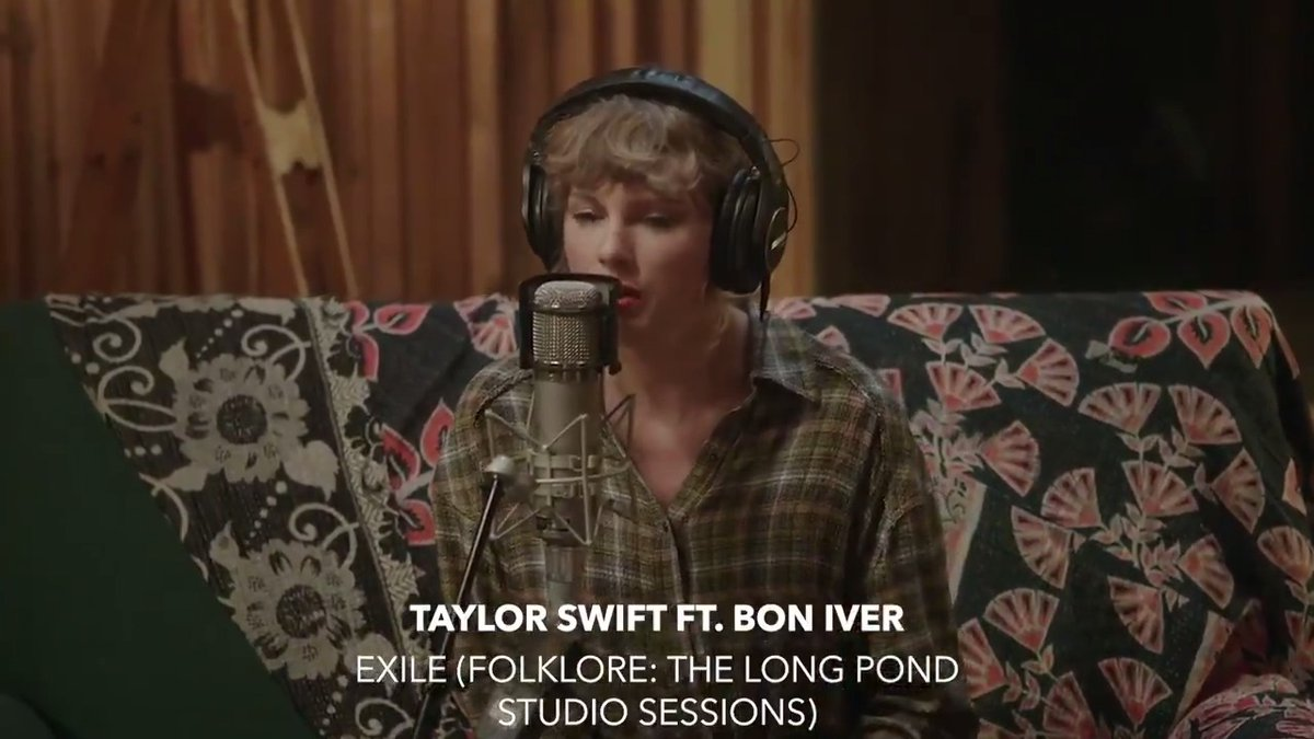 "Watch @taylorswift13 and @boniver create magic in this raw version of ""exile"" from 'folklore: the long pond studio sessions' on @disneyplus ⠀⠀⠀⠀⠀⠀⠀⠀⠀ ▶️"
