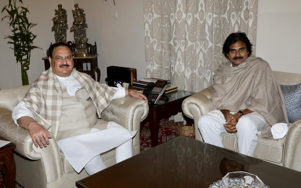 Invited Jana Sena Party chief @PawanKalyan ji for discussing the upcoming by-election poll and developmental issue of Andhra Pradesh.