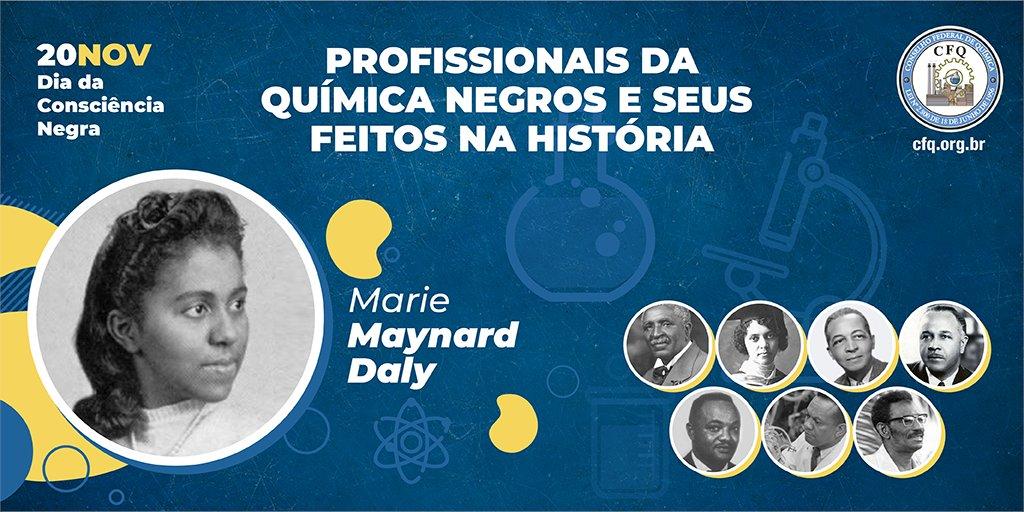 #DiaDaConsciênciaNegra | Hoje, falaremos sobre Marie Maynard Daly (1921-2003), uma das 50 mulheres mais influentes no campo das Ciências, Engenharia e Tecnologia de acordo com a National Technical Association.