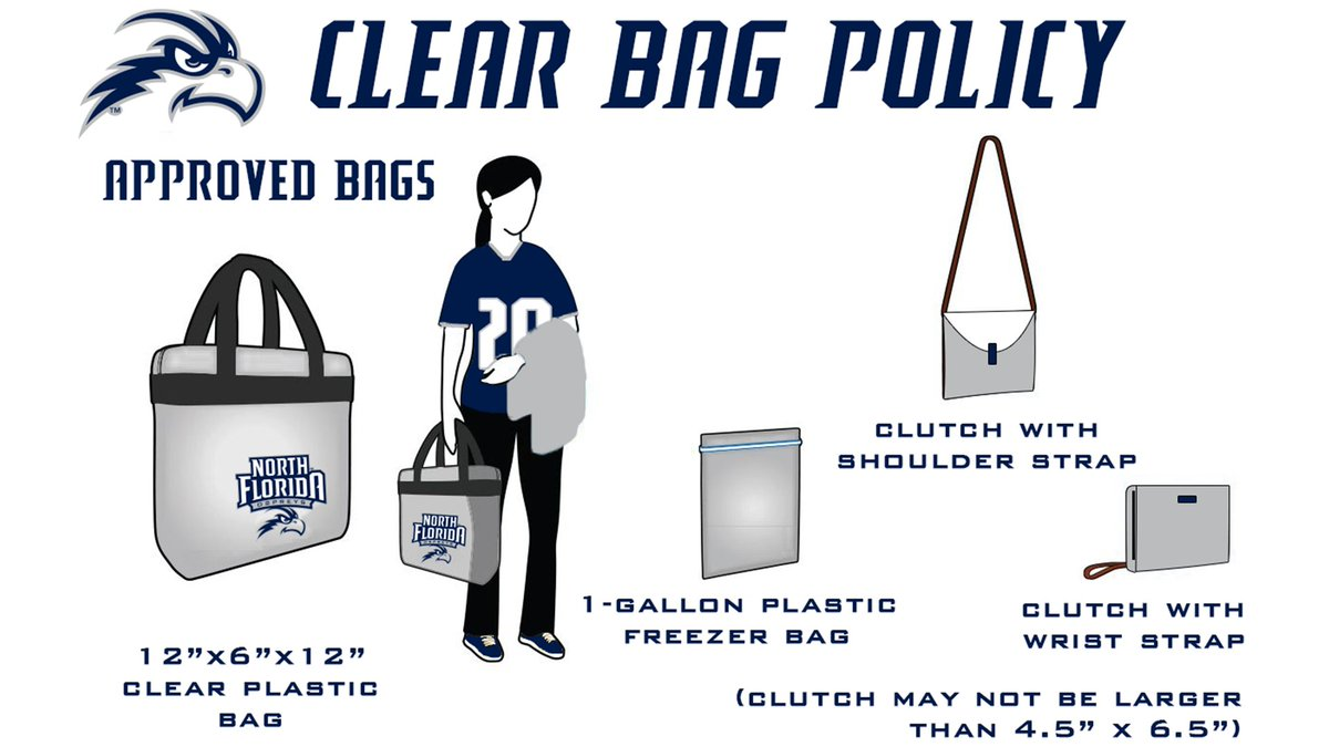 🚨🚨 Dont forget we have a new clear bag policy when coming to games at UNF Arena this year! 🚨🚨