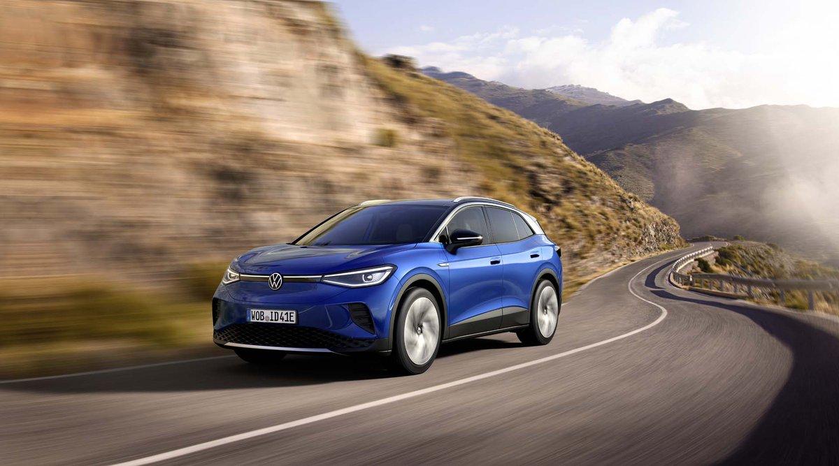 2021 VW ID.4 electric SUV rated at 250 miles of range dlvr.it/RmQ3Yr
