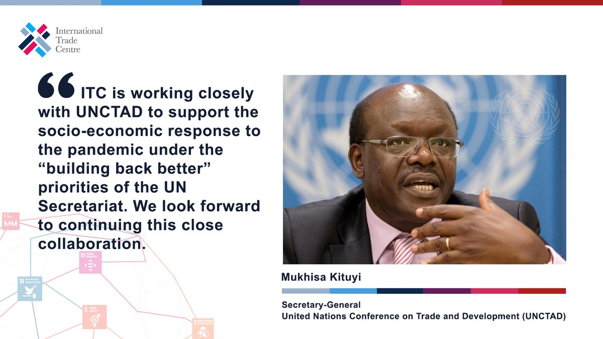 @DrMukhisaKituyi, Secretary-General of @UNCTAD congratulates ITC on its work delivered in 2019 at #JAG2020.  Thank you @UNCTAD for the positive engagement in translating trade policy improvements into net gains for small businesses in developing countries!  #TradeImpactForGood