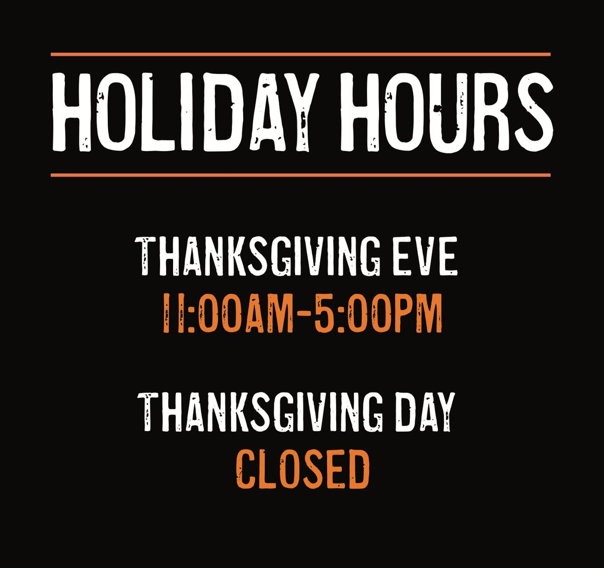 CLOSING AT 5PM TODAY. Our Teammates will be enjoying the holiday as we close early today and all day on Thanksgiving. We'll be back, as always, eager to serve you on Friday. Hope you have a wonderful holiday. Happy Thanksgiving. https://t.co/tUeQEFJ24S