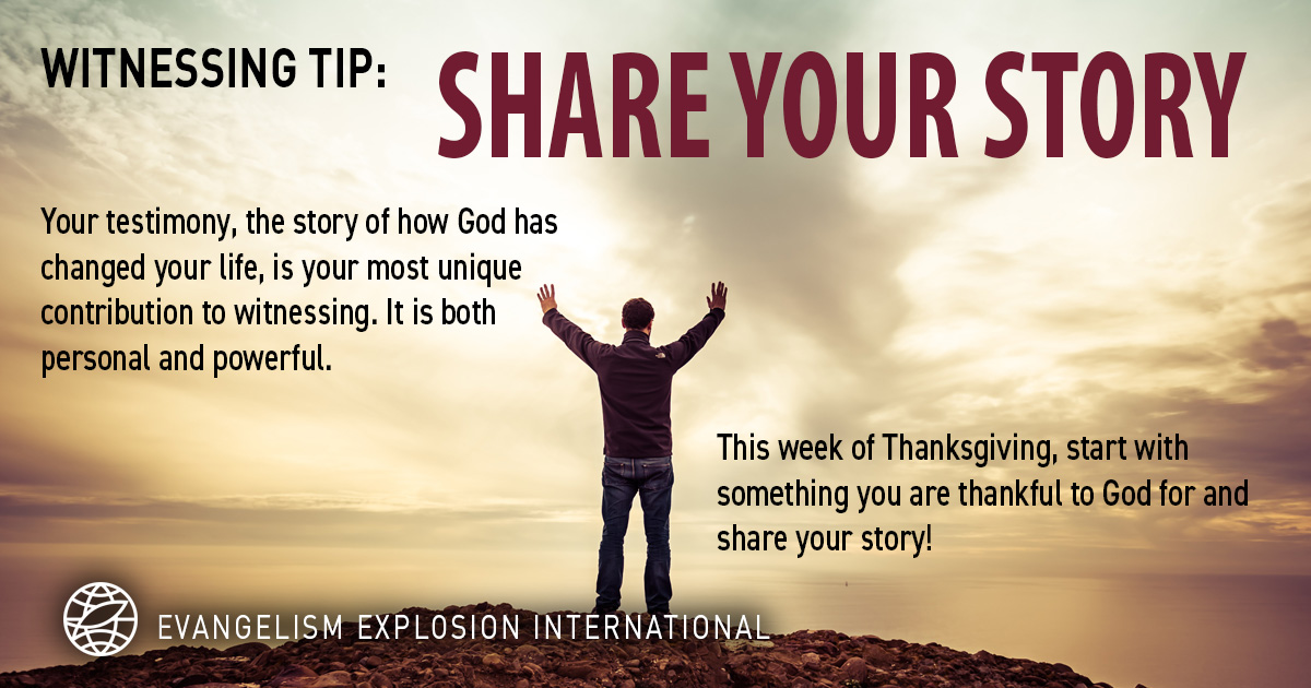 WITNESSING TIP: Share Your Story #WednesdayWisdom