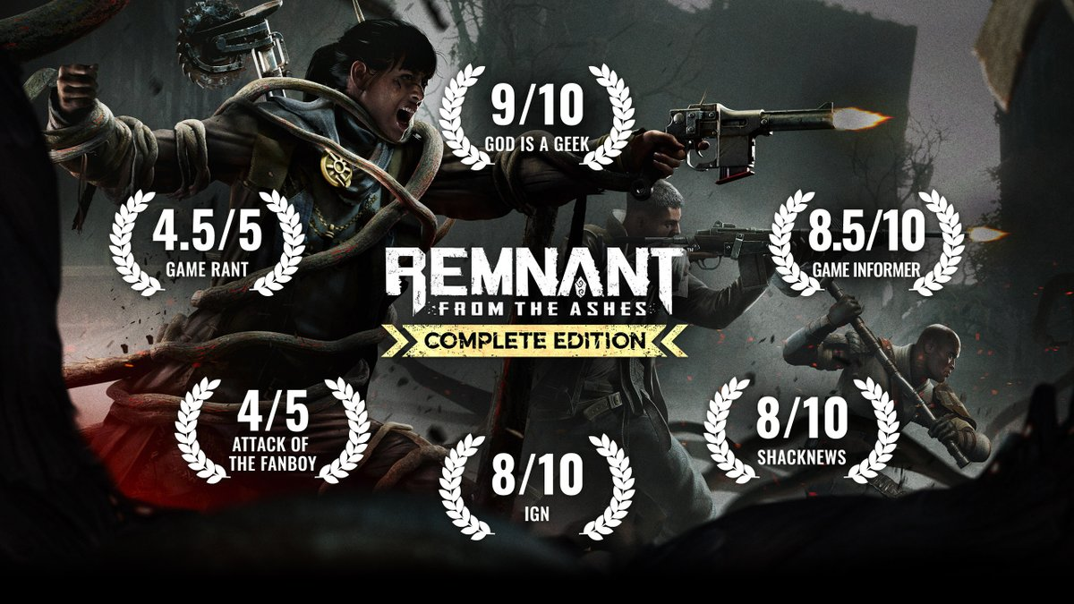 🍂💀 Learn why critics love the post-apocalyptic survival action smash hit of last year.  Take home Remnant: From the Ashes - Complete Edition containing the base game + Swamps of Corsus & Subject 2923 DLCs now on #Xbox!  https://t.co/C1KoWiK0yi https://t.co/SclGTybUol