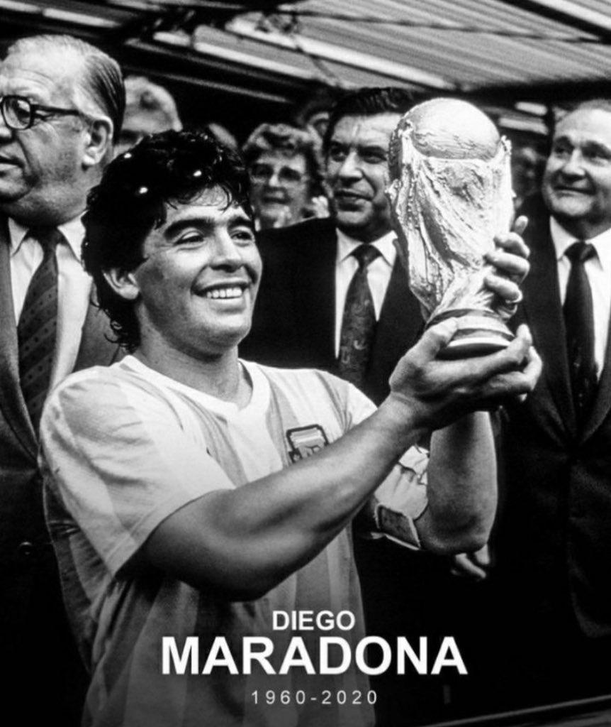 D.E.P. Diego Armando Maradona 🙏🏼 https://t.co/cky7TkptfT