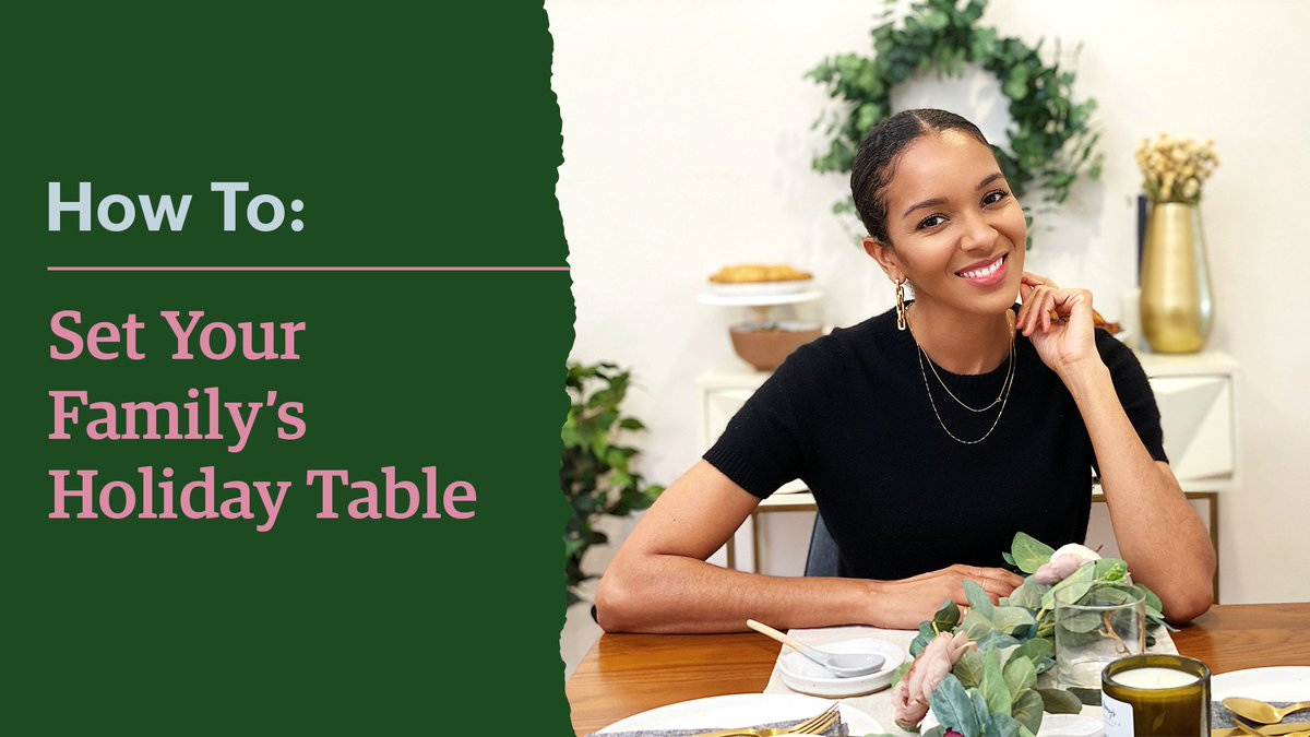 Watch as Lizzy Mathis of Cool Mom Co shows you how to set your table with a little extra warmth and cheer this year to make your holiday meals feel as special as ever: https://t.co/VQpnScp0y7 https://t.co/9OtxnkEpa2