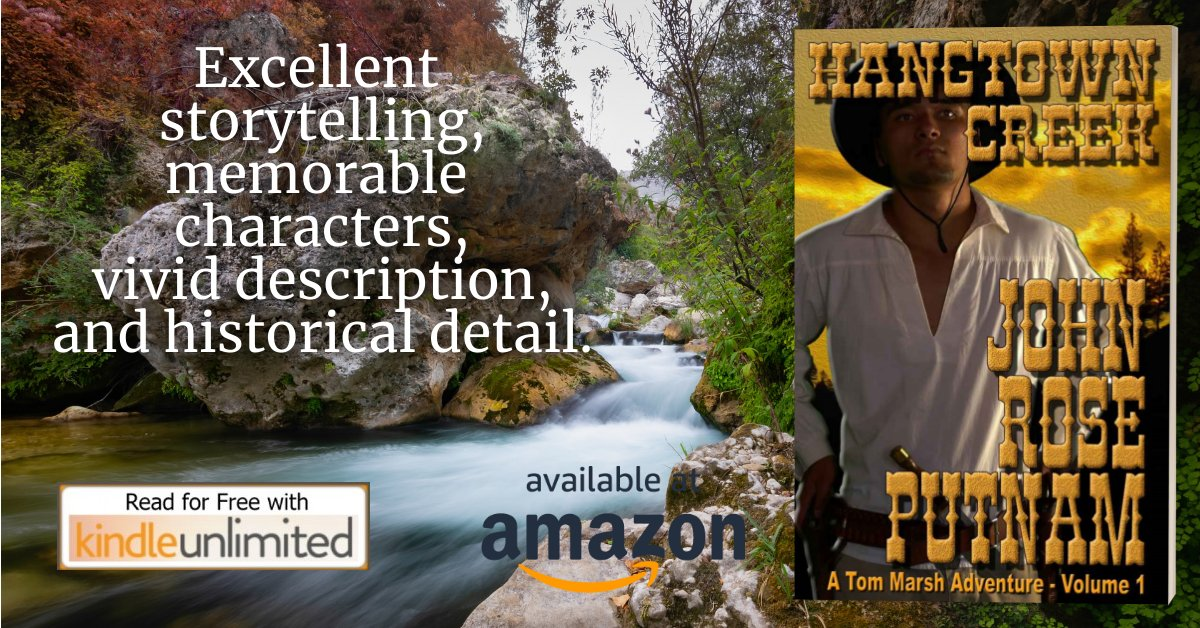The majestic landscapes of Brett Harte's California unite with Larry McMurtry's epic old west realism in an explosion of love, lust, murder and betrayal.  ❈HANGTOWN CREEK❈ https://t.co/aqtJUkk5v6  #WESTERN #ACTION #ADVENTURE  FREE ON KINDLE UNLIMITED https://t.co/WPCvj6FpRo