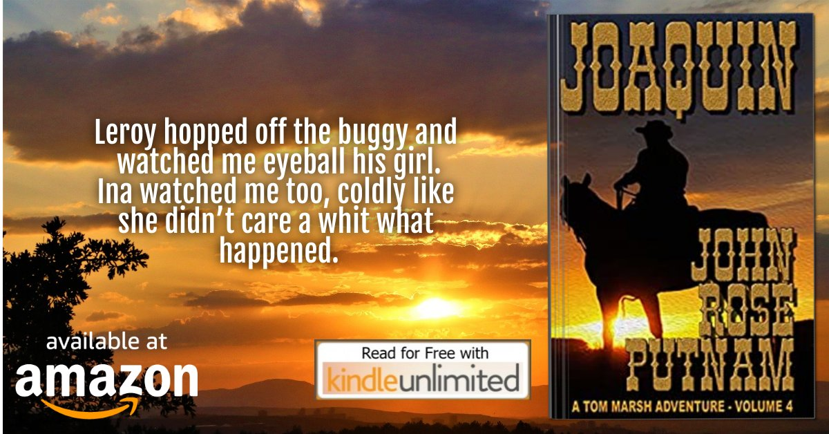 ❈JOAQUIN❈  https://t.co/f0kOv4hEby   Accused of murder Tom is tossed into jail  with the most infamous bandito in California  #WESTERN #ACTION #ADVENTURE a bestseller by author John Rose Putnam  FREE ON KINDLE UNLIMITED https://t.co/TY89wlbP5v