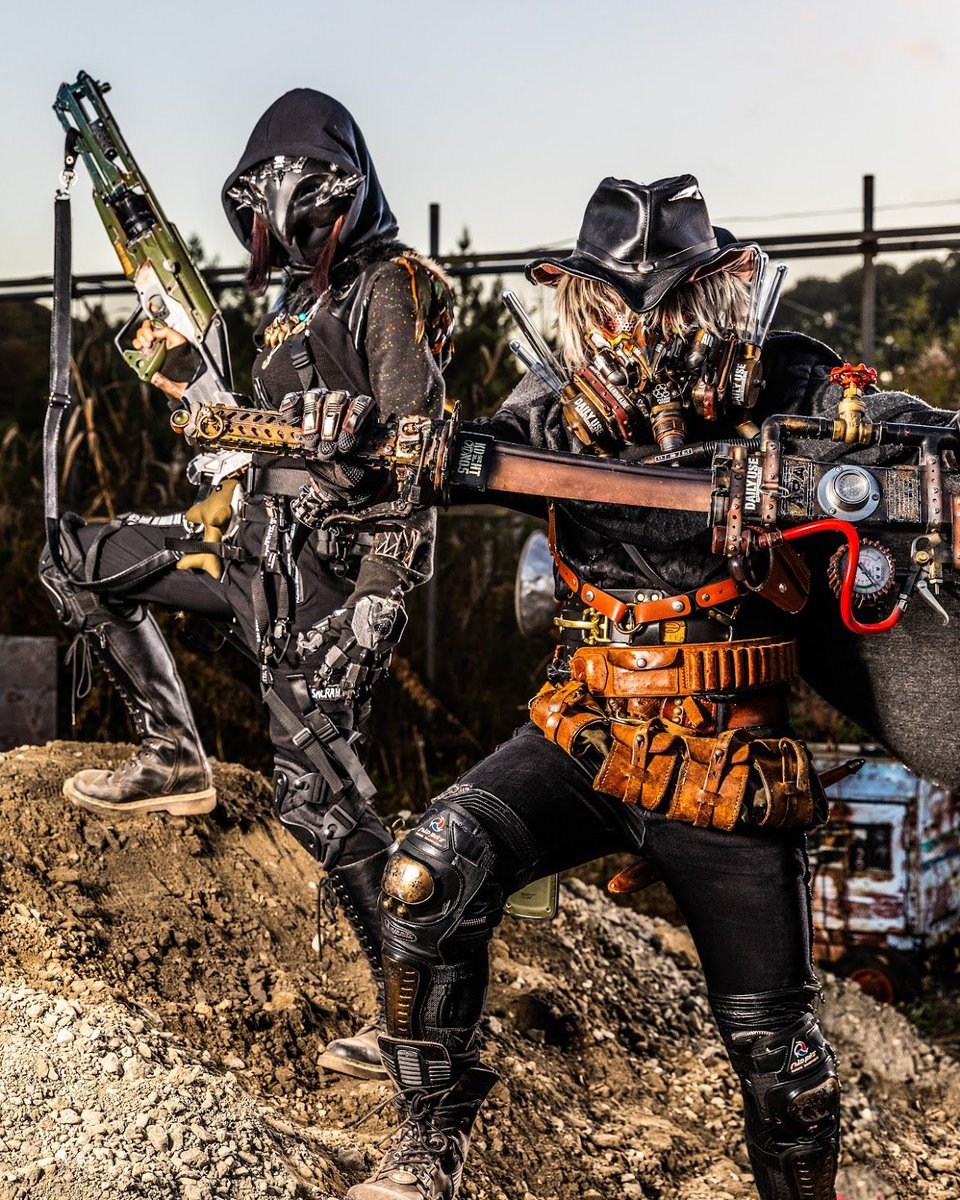 サイバーホルス神かっこいい・・・ワイもエジプト神話シリーズでなんか作りてぇな! #ARMOR祭 #ARMOR祭2020 #steampunk  #cyberpunk  #ReijiShoot photo:レイジさん(@reiji_cp)