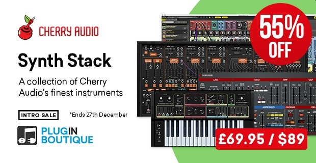 Cherry Audio Synth Stack Introductory Sale - 56% Off 🚀  https://t.co/V1dBEY1Iqm   @PluginBoutique #plugindeals #pluginsales #DTM #DTMer https://t.co/XQDzL5hdkm