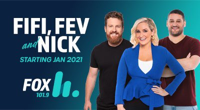 Stand-up comedian and broadcaster Nick Cody will join The Fox's breakfast show in Melbourne alongside Fifi Box and Brendan Fevola in 2021!!  Fifi, Fev & Nick will debut on Monday 18 January.  Read more here: https://t.co/JU83v5XskG https://t.co/t5M1AlFExQ