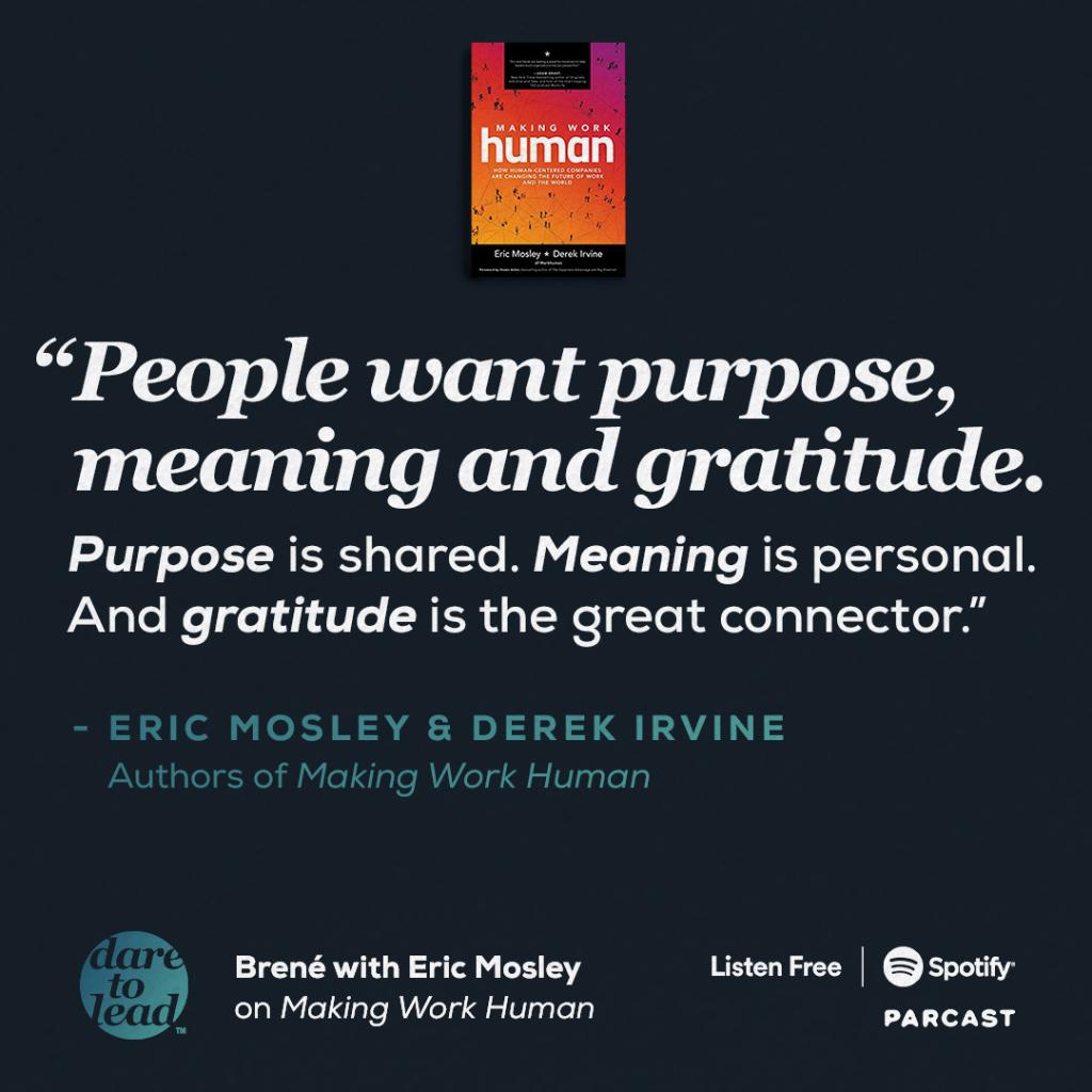 ICYMI: @ericmosley sat down with @brenebrown on her podcast this week to challenge organizations to build new ways to connect the modern workforce.  #DareToLead #MakingWorkHuman