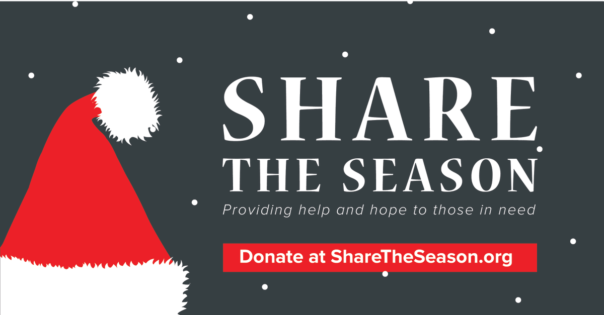 """""""I have a smile now because of that program"""" - a past recipient of Share the Season.  Share the Season has helped 3,700 families in need since 2000. Thinking about making a contribution today? Visit"""