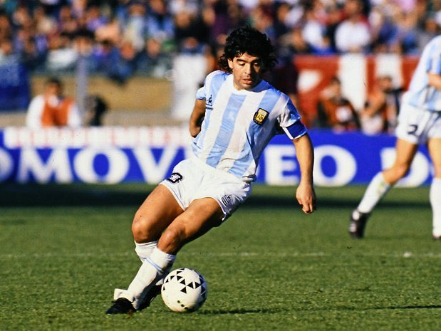 A fearless genius on the pitch who changed the game. RIP Maradona
