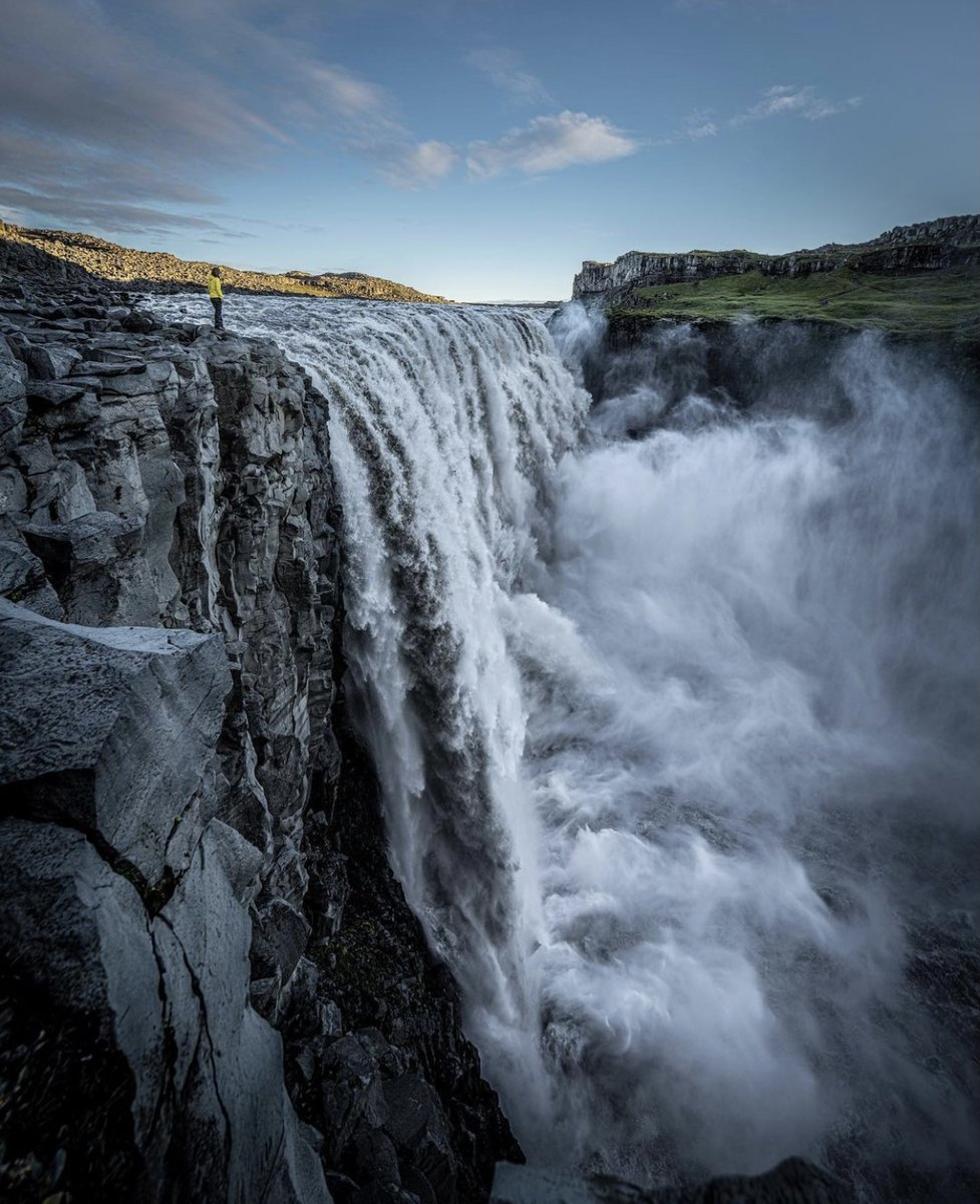Dettifoss, the second most powerful waterfall in Europe 🇮🇸 by @ronald_soethje https://t.co/unseFL6Xcb