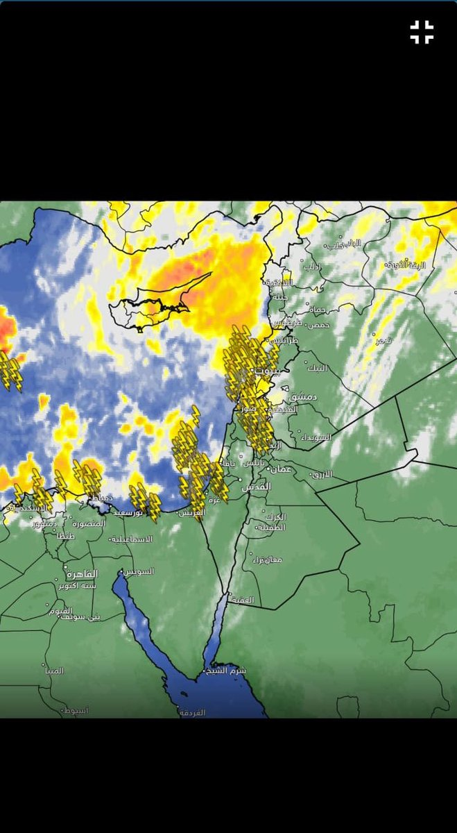 There's lightning over #Gaza. Will there be rockets?