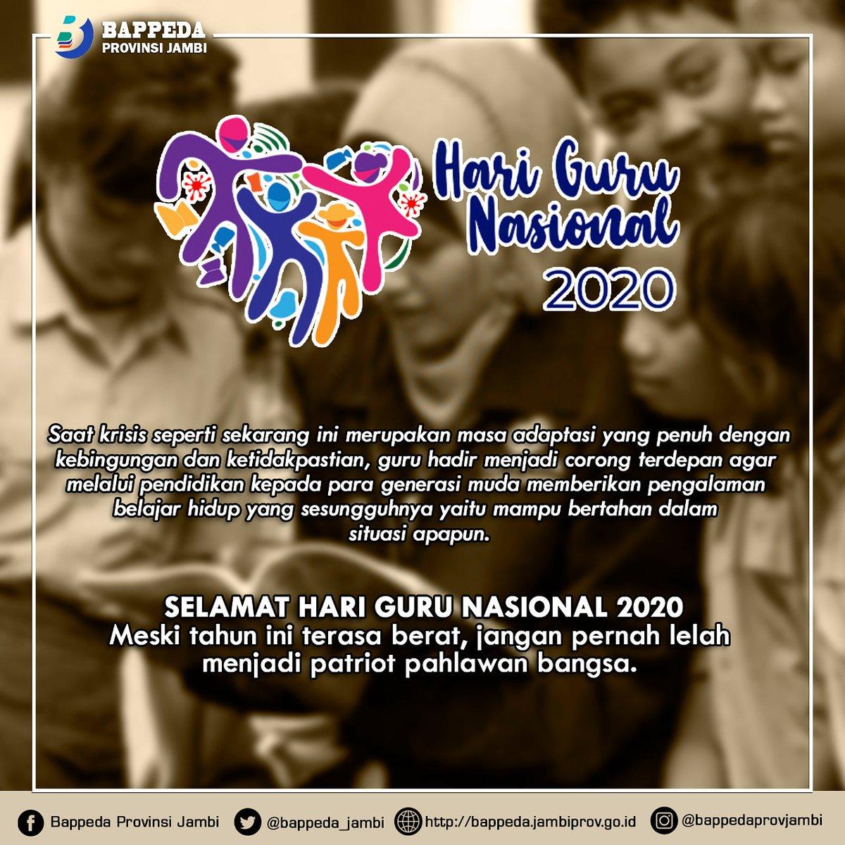 Selamat Hari Guru Nasional Tahun 2020  #newnormal  #bappedaprovinsijambi  #bapppedaprovjambi  #bappedajambi