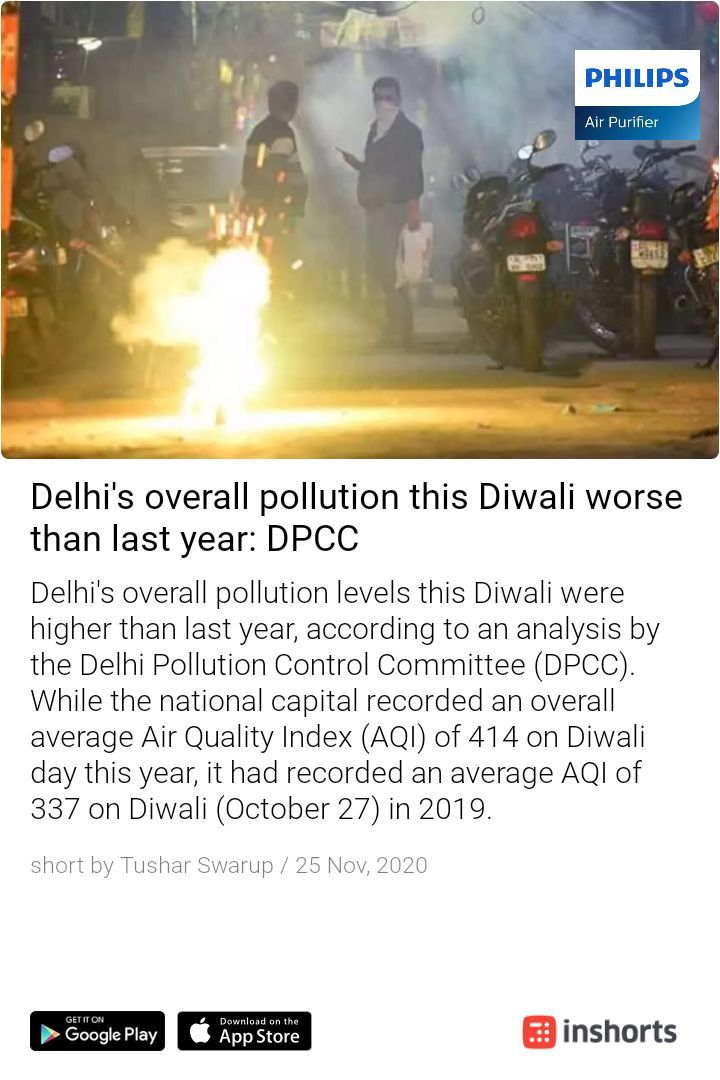 Seem like the #crackersban by #AAP did not help this year for curbing pollution in #Delhi  #pollution #DelhiAirQuality https://t.co/RXU7zVR0j1