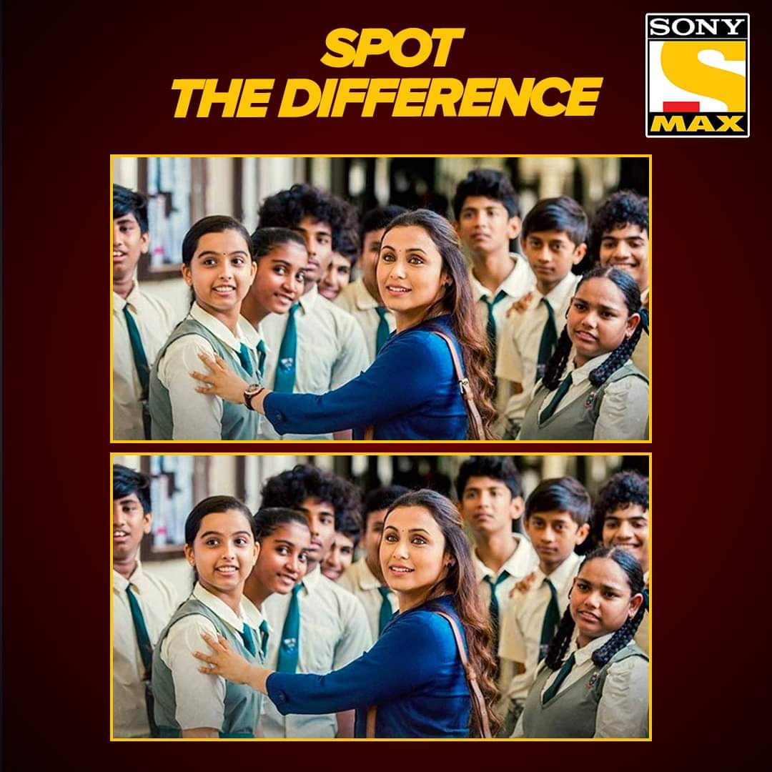 'Hichki' mein seekhe humne kayi saare  lessons, but inn dono images mein se can you  spot the difference?  #RaniMukherjee #Hichki