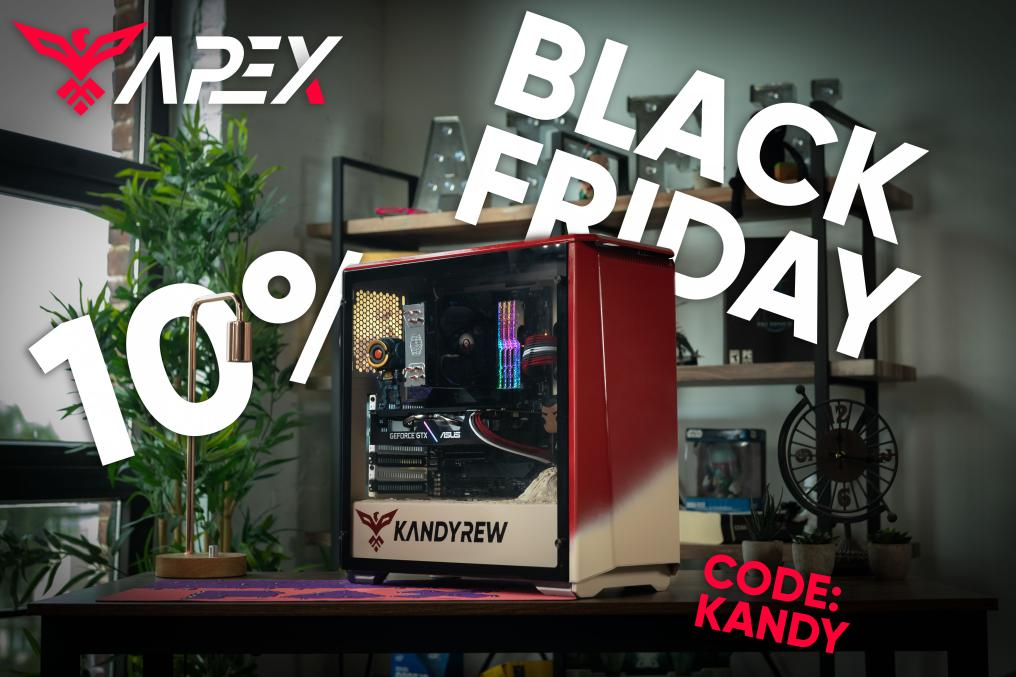 kandyrew - Hey guys! @apexgaming_pcs  is running a pretty sick sale on all their PCs for Black Friday :) Use code KANDY for 10% off! #Ad