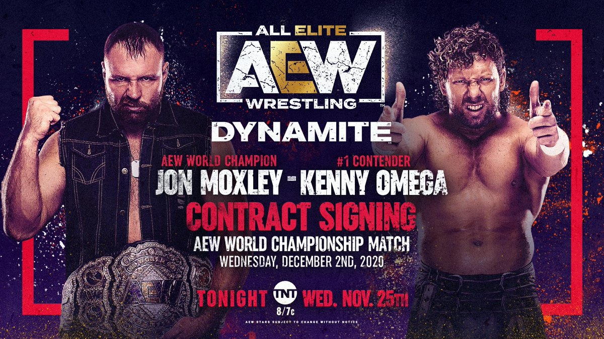 Kenny Omega - Jon Moxley Second Contract Signing On Tonight's AEW Dynamite