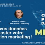 Image for the Tweet beginning: Nouveau Webinaire #MDM Jeudi 3
