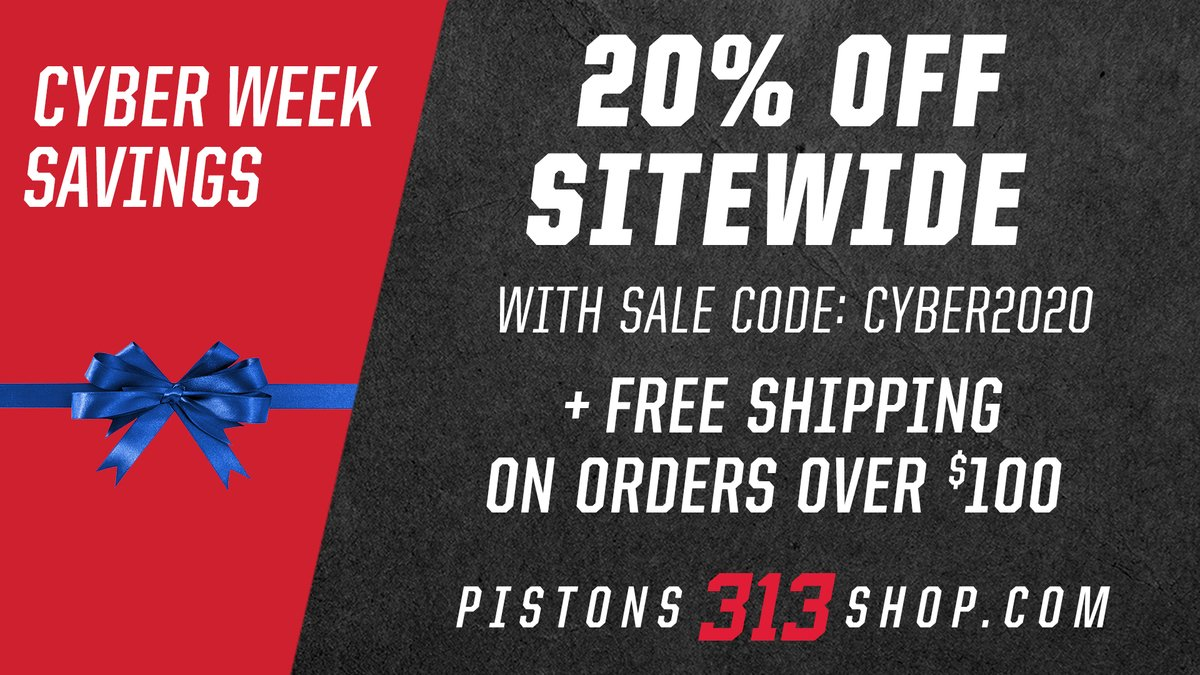Spend that hard-earned cash on some fresh gear at the Pistons 313 shop now! 😤🔥😤  https://t.co/LaohI06mbM https://t.co/43EMxW0UVy