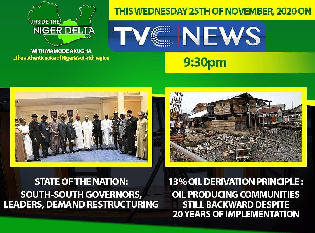 Watch Inside the Niger Delta with Mamode Akugha every Wednesday at 9:30pm on TVCNEWS Channel 418 #insidethenigerdelta #ndntv #wednesdaythought #WednesdayMotivation